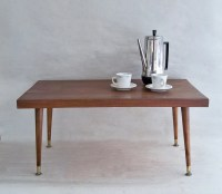 Mid-Century Modern Coffee Table Solid Hardwood Stiletto