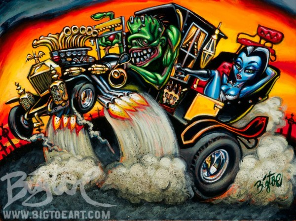Bigtoe' Hot Rod Herman Limited Edition Archival Art Print