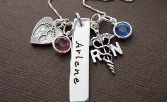 Personalized Nurse Necklace Gift Nursing Graduation By