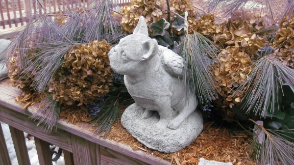French Bulldog Garden Statue Concrete