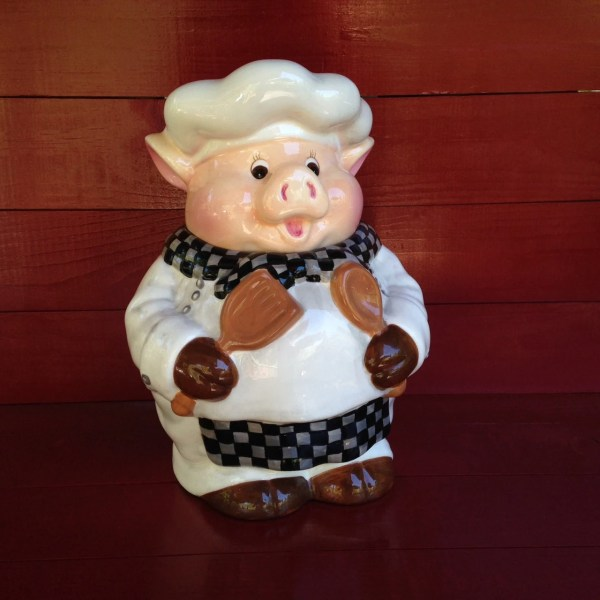 Vintage Pig Cookie Jar Chef