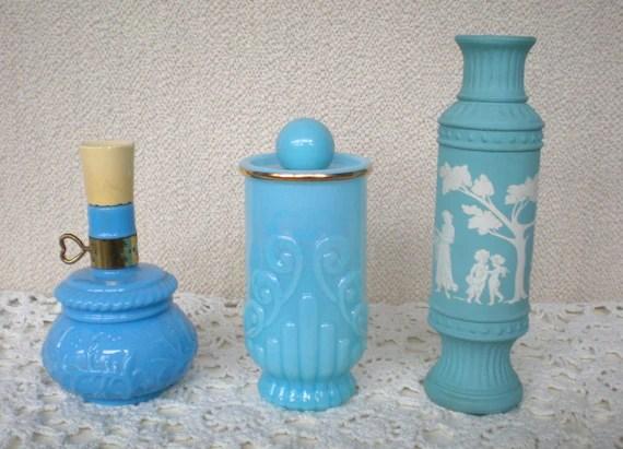 Avon Glass Perfume Collectible Blue Lantern Bristol Blue