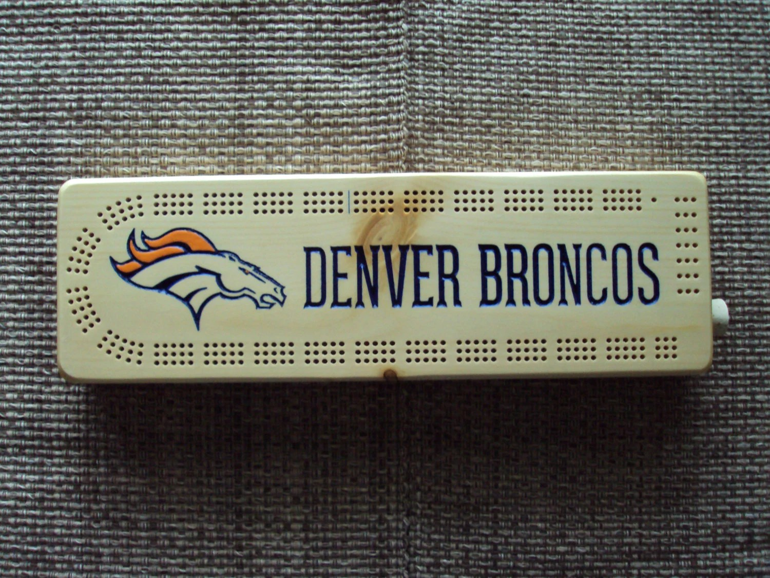Denver Broncos Chair Rustic Cribbage Board Denver Broncos Football Furniture