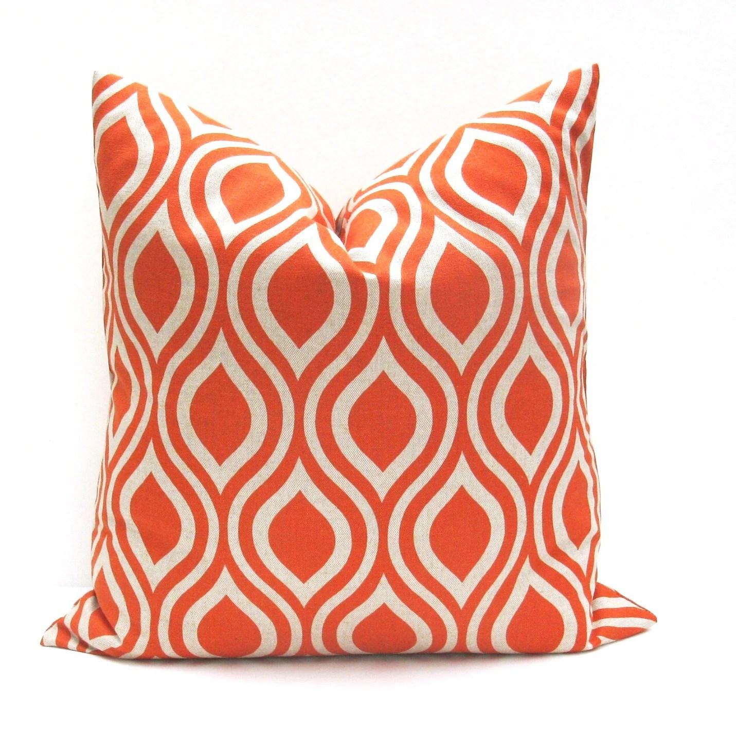 Euro Pillow Sham 26x26 Pillow cover Orange Pillow by EastAndNest