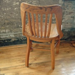 Wooden Library Chair Rail Moulding Lowes Vintage Oak Bankers By Territoryhomegoods