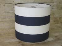 Drum Lamp Shade Lampshade Pendant Navy White by ...