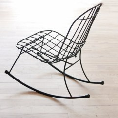 Wrought Iron Rocking Chair Eames Molded Wire Patio  Etsy Finds