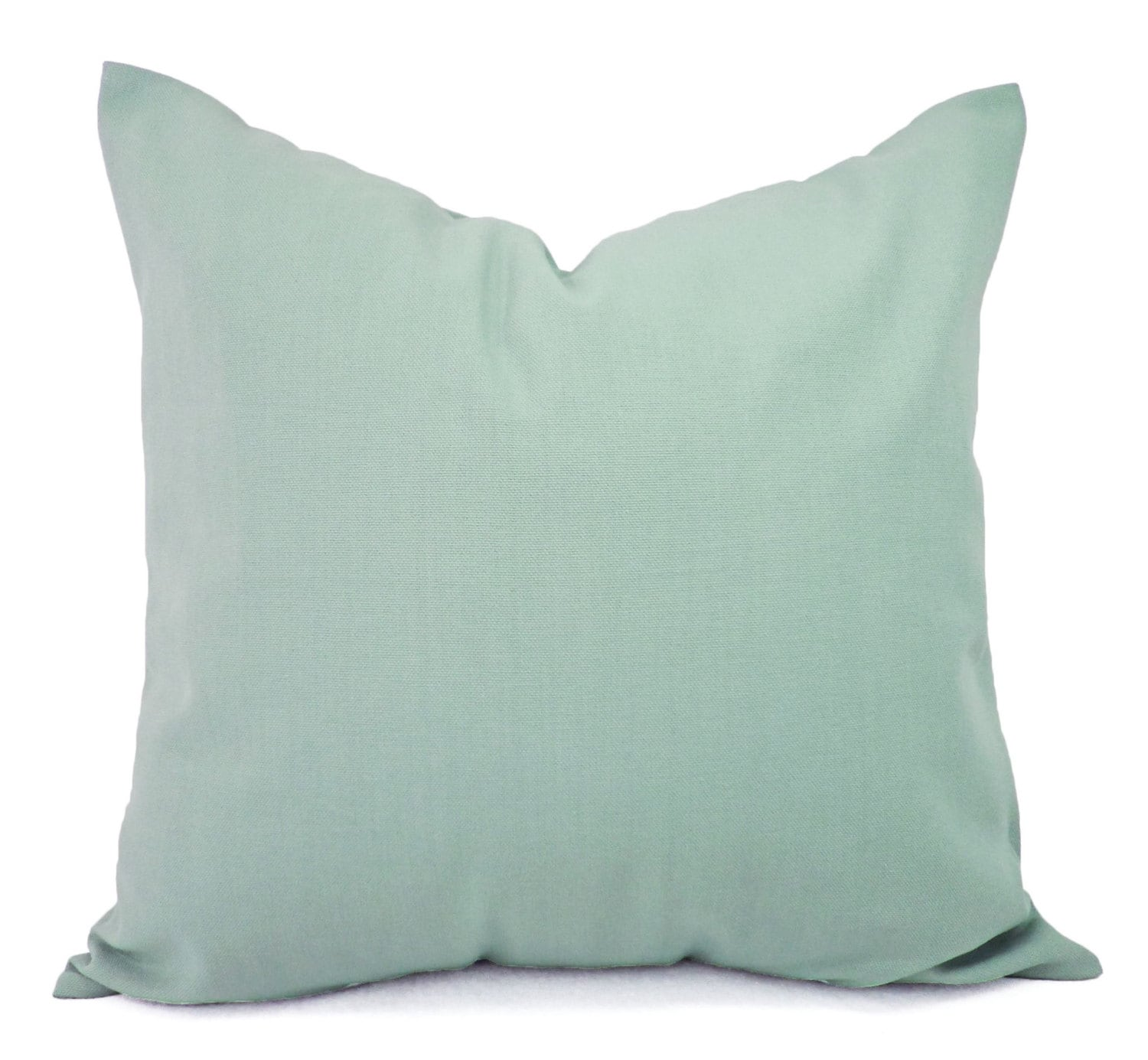 Two Solid Spa Blue Throw Pillow Covers Blue Couch Pillow