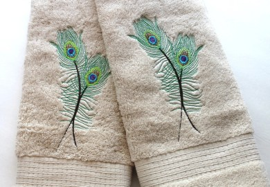 Peacock Bathroom Towels