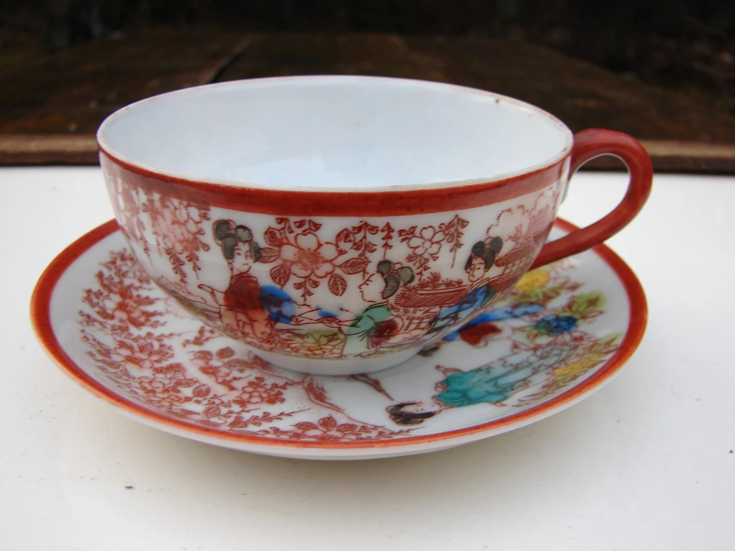 Vintage Japanese Tea Cup Shop Collectibles Online Daily
