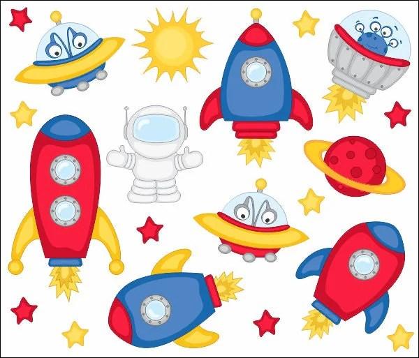 outer space clip art spaceship
