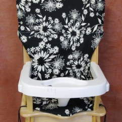 Eddie Bauer High Chairs Chair Covers Classroom Pad Replacement Coverblack And Ivory