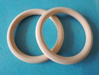 2 Pcs Large 74mm 3Wood Ring Unfinished Wooden