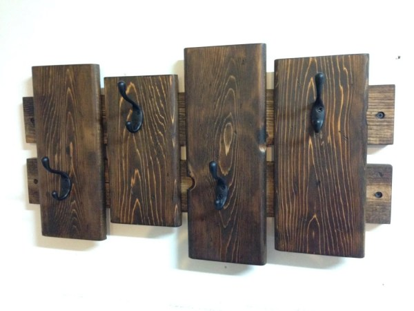Rustic coat rack wall coat rack entryway coat hooks towel