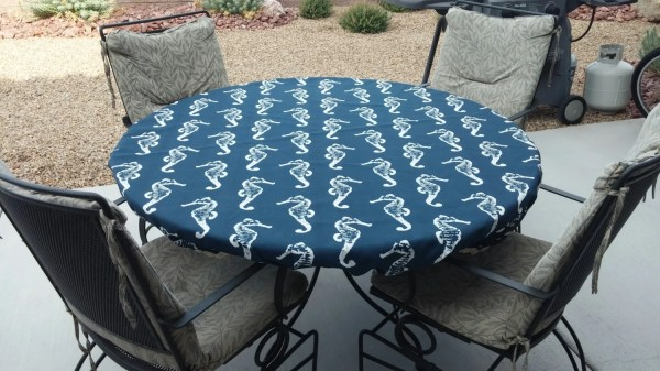 Fitted Round Tablecloths Elastic Outdoors
