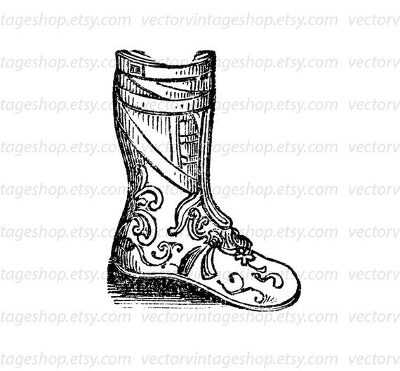 Armor Boots Vector Graphic Instant Download, Buskin Boots