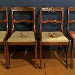 Tell City Chairs Pattern 4222 Patio Chair Repair Fabric Gorgeous 4 Mahogany Duncan Phyfe Co Rose Back