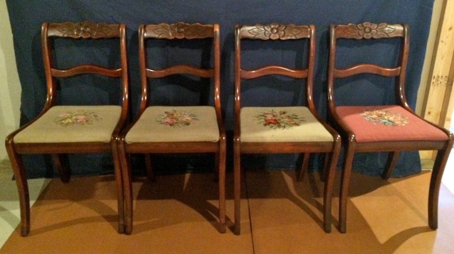 tell city chairs pattern 4548 pier 1 chair slipcovers gorgeous 4 mahogany duncan phyfe co rose back
