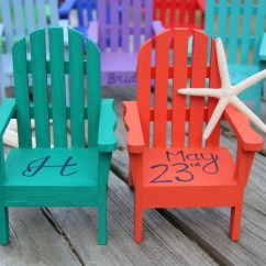 Miniature Adirondack Chairs Chair And Ottoman Cover Set Custom Personalized Cake Topper