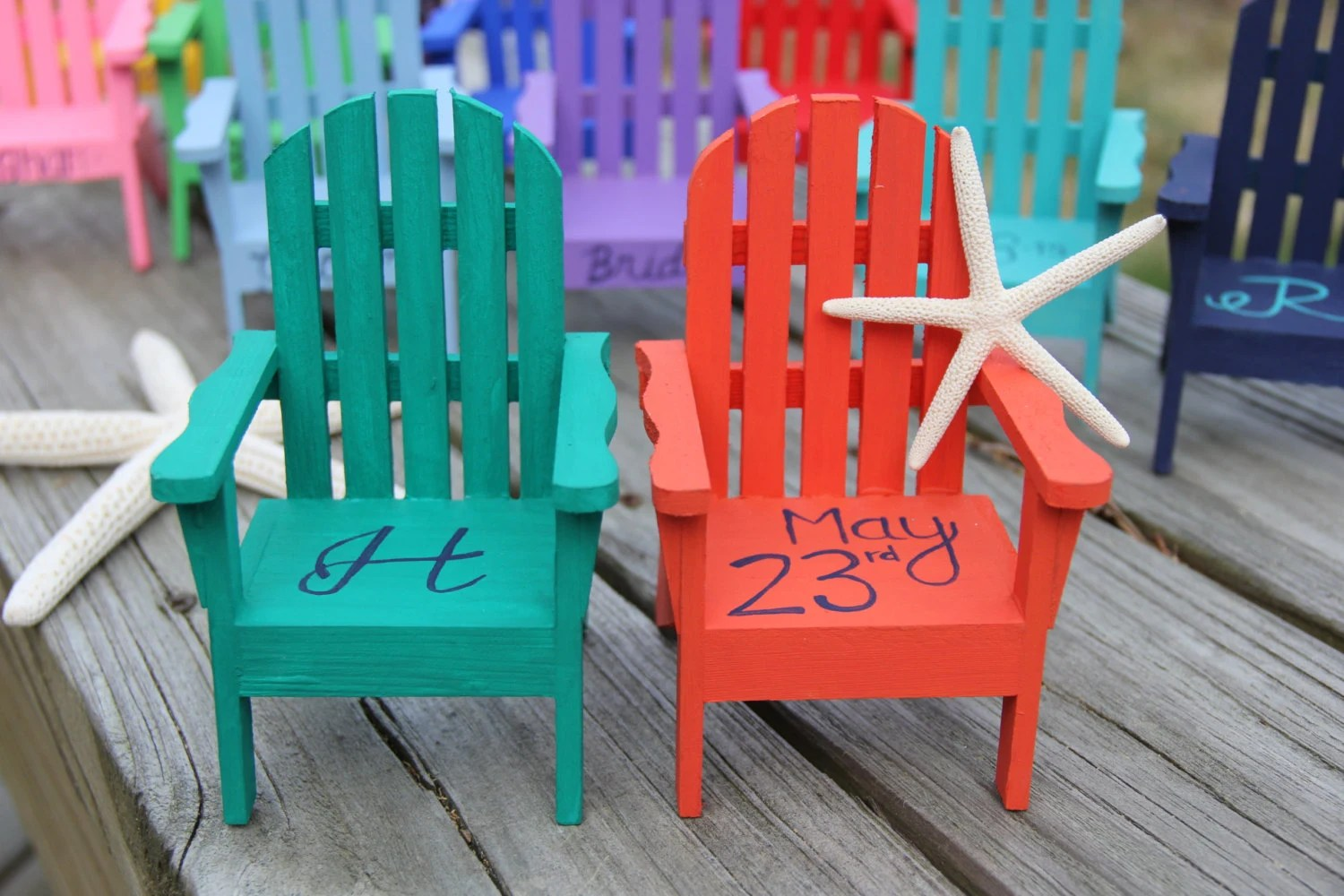 Mini Adirondack Chairs Custom Personalized Miniature Adirondack Chair Cake Topper