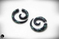 Fake Gauge Earrings Faux Gauge Small Spiral Horn Earrings