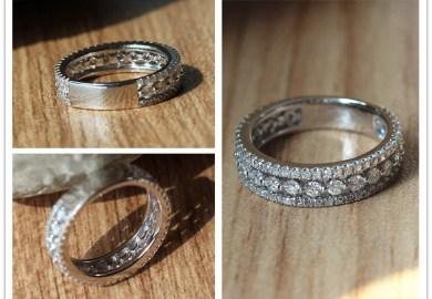 1ct Diamonds Ring Engagement Ring 14k White Gold Wedding Ring Full