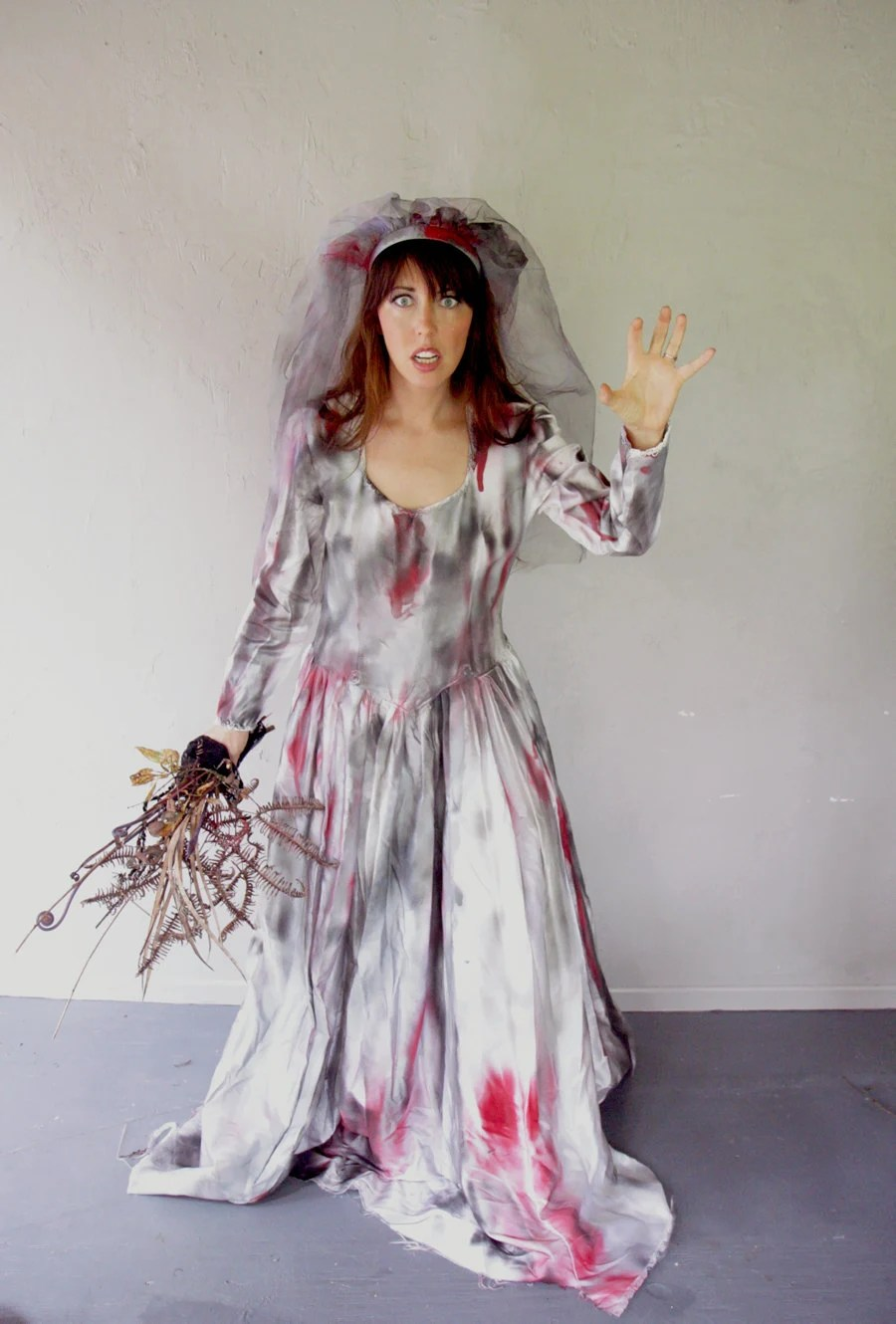 Zombie Bride costume  scary wedding bride Halloween costume
