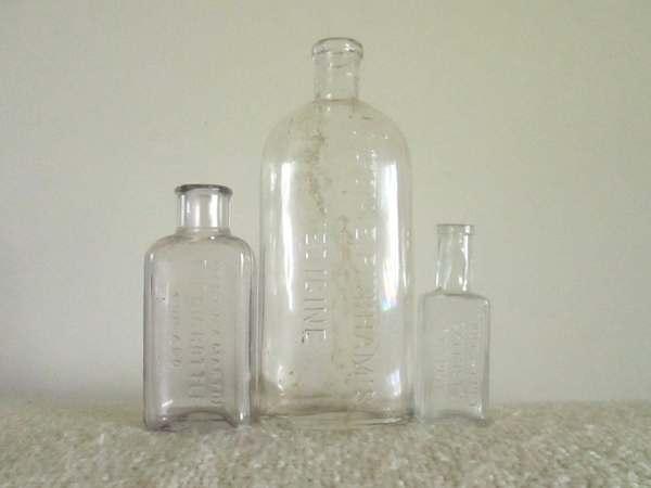 Antique Glass Medicine Bottles Lydia Pinkhams Eddy