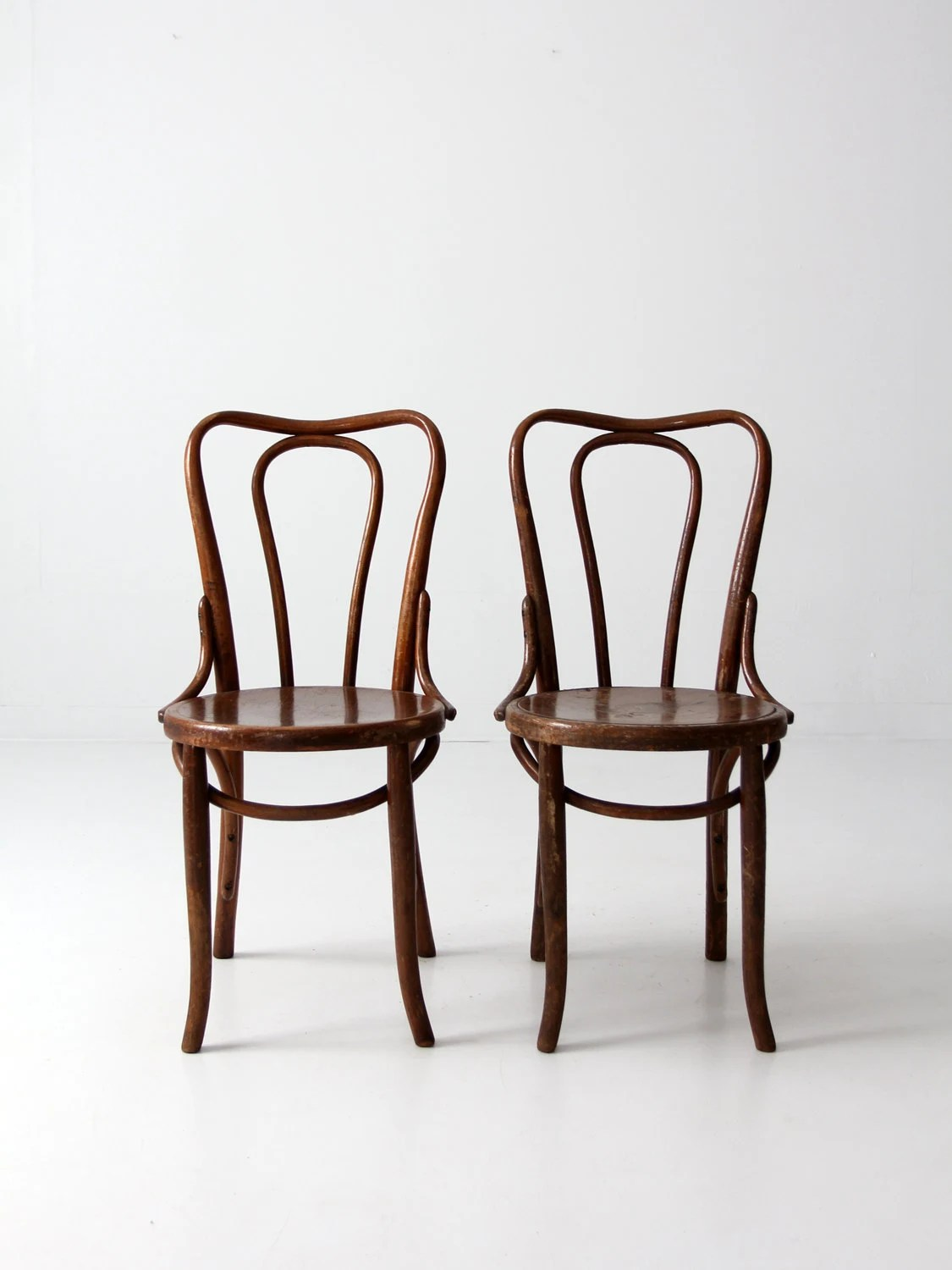 vintage bentwood chairs ergonomic kneeling posture office chair antique thonet style cafe pair by