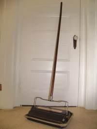 Antique Wood & Metal Carpet Sweeper Vintage Bissell's