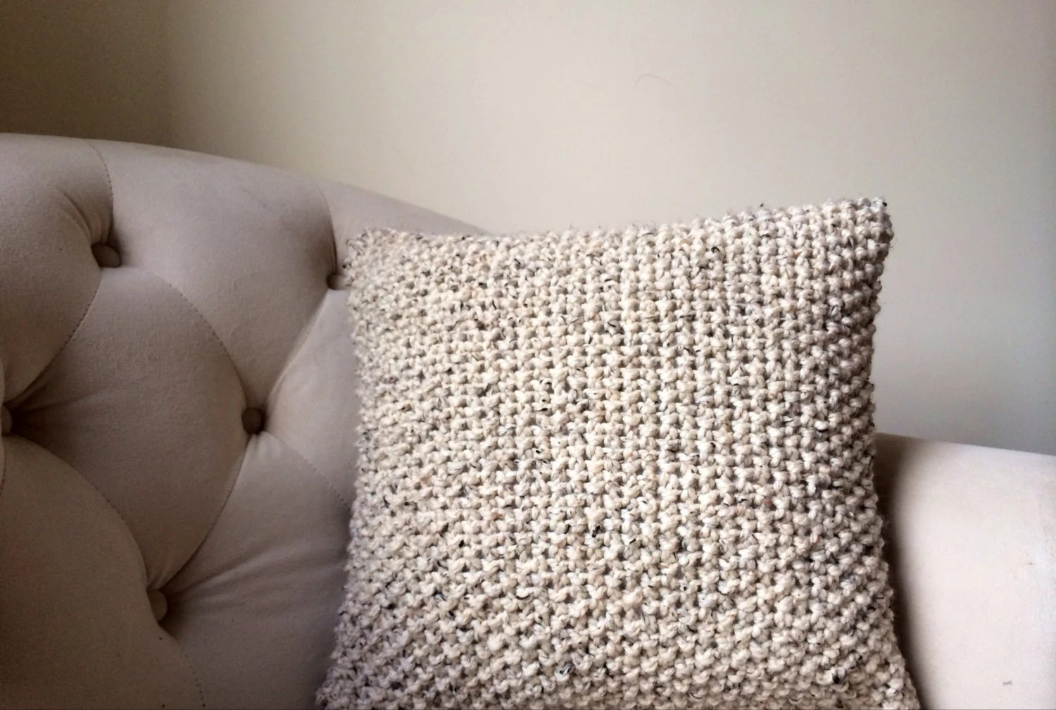 Knit Pillow Cover  Decorative Knitted Throw Pillow