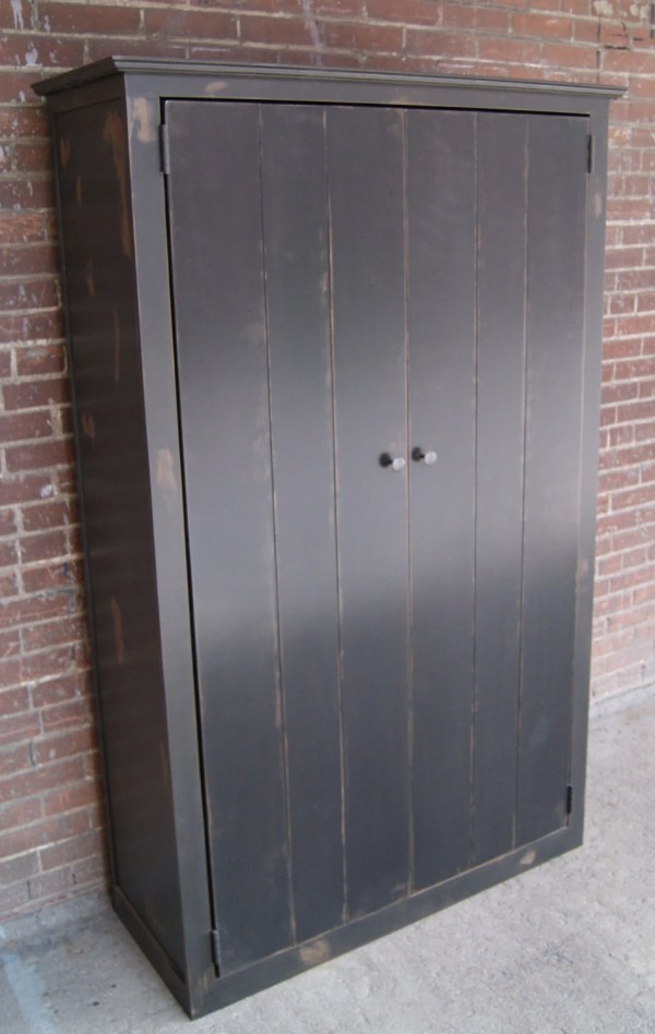 Armoire Primitive Coat Closet Rustic Furniturefarm