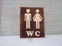 Bathroom sign wooden wall decor restroom sign wood sign