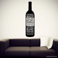 Items similar to Wine Bottle Typography Wall Decal on Etsy