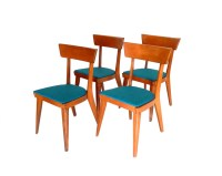 Items similar to Mid Century Modern Dining Chairs Blonde ...