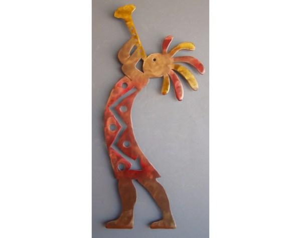 Kokopelli Trumpet Metal Wall Art Western Sculpture Chriscrooks