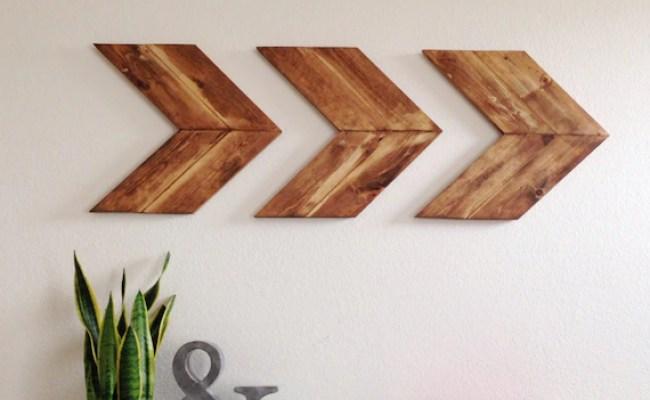Items Similar To Wood Arrow Wall Art Chevron Home Decor