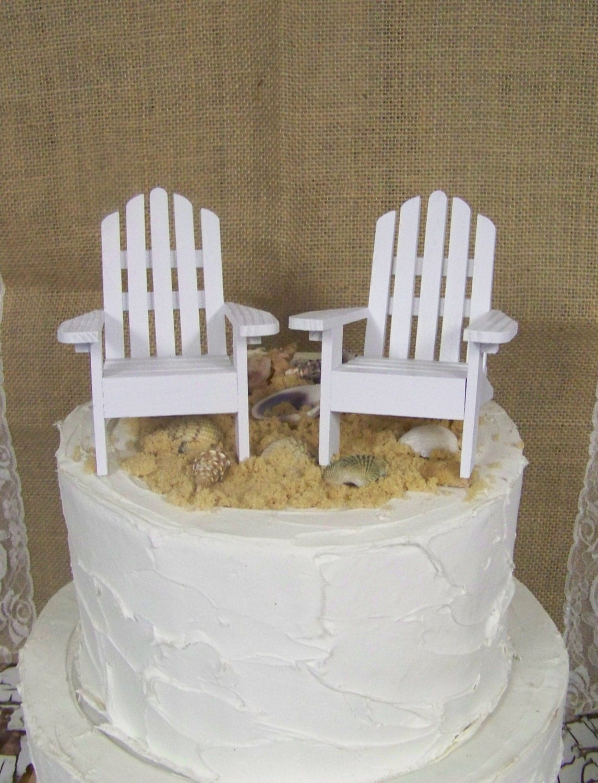 adirondack chair cake topper abiie high diy wedding beach theme