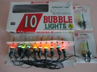 VINTAGE 1980s mini BUBBLE LIGHTS string of 10 extra