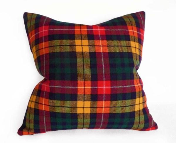 Buchanan Tartan Plaid Pillow Traditional Wool Colorful