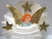 vintage christmas tree angel hair