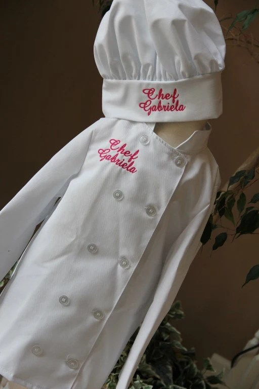 Childs Personalized Chef Coat and Matching by