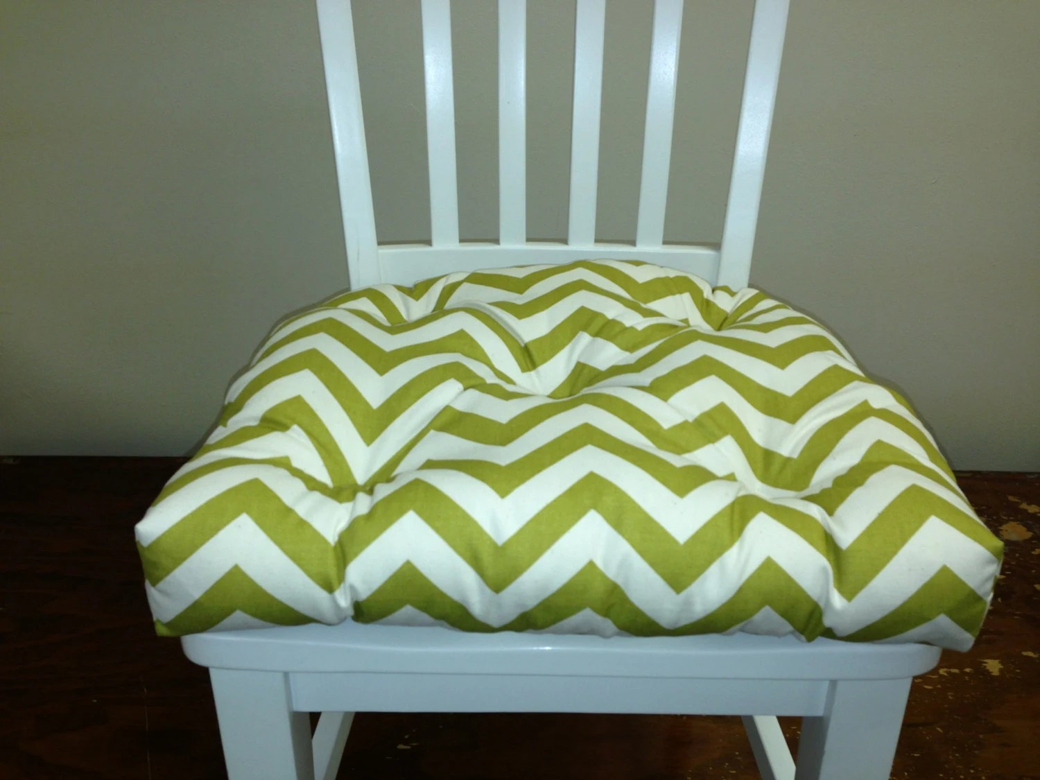 green chair cushions covers xmas pads decorticosis seat bar stool popular items for on etsy