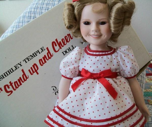 Vintage Shirley Temple Doll 1987 Porcelain Red Dot