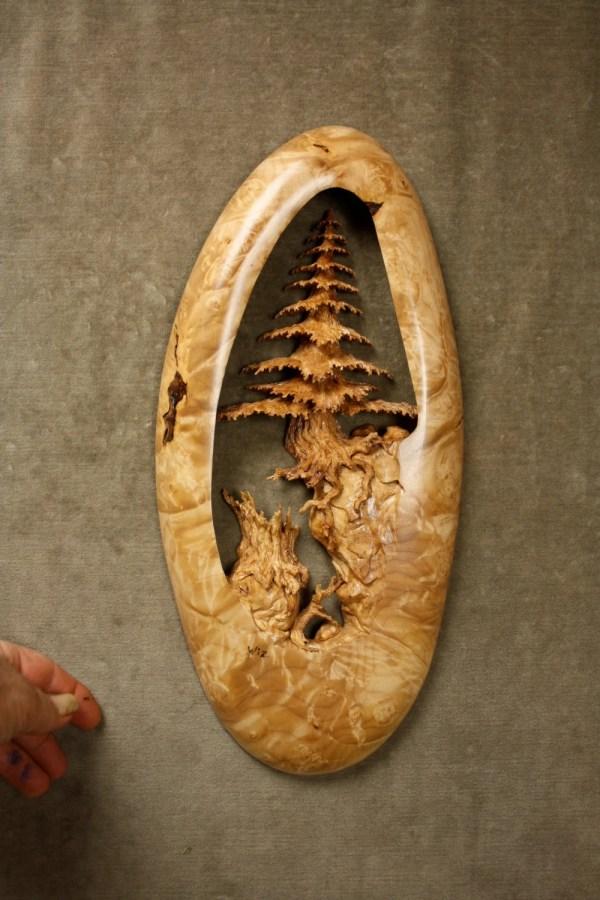 Wood Carving Of Tree Art Wall Hanging Kind Log