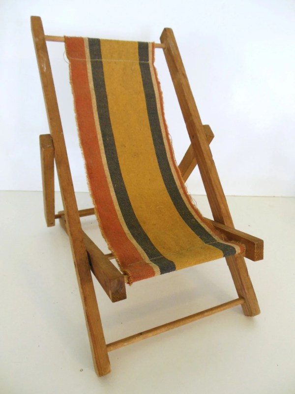 Salesmens Sample Chair Canvas Wood Sling Beach Chair