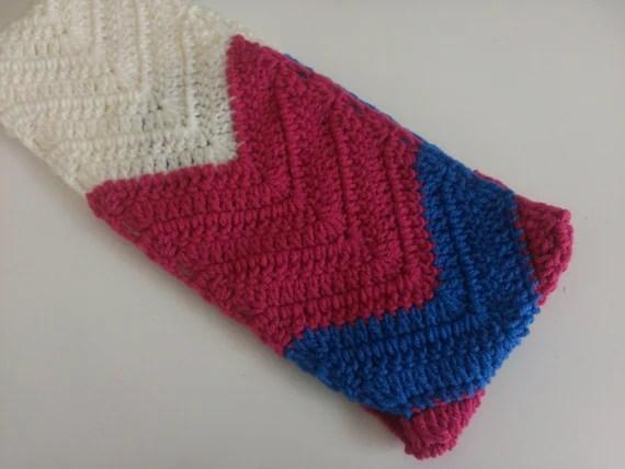 Crochet Pattern Chevron Scarf Cowl