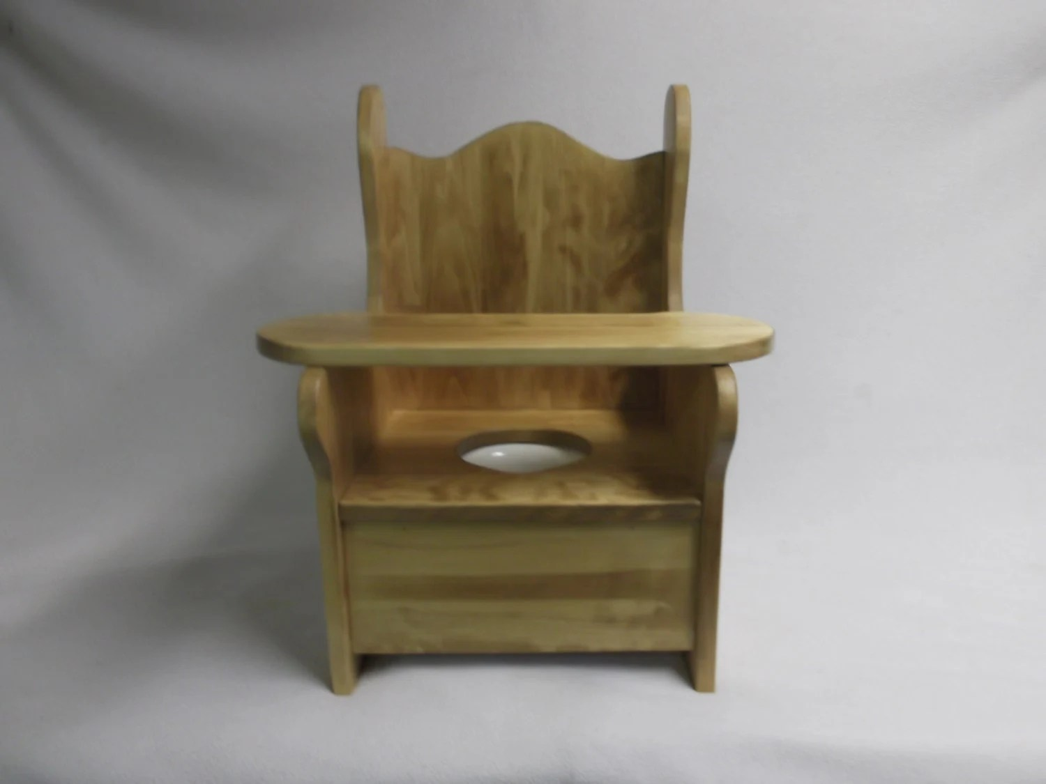 wooden potty training chair club covers for sale large with tray by wonderwoodshop on etsy