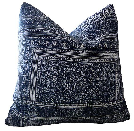 Indigo Pillows Kintamani Pillows Ralph Lauren Pillows