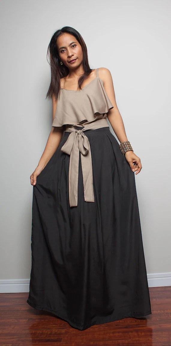 Long Black Skirt Floor Length Maxi Skirt  Feel Good